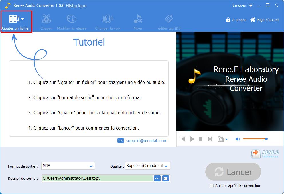ajouter un fichier audio à convertir
