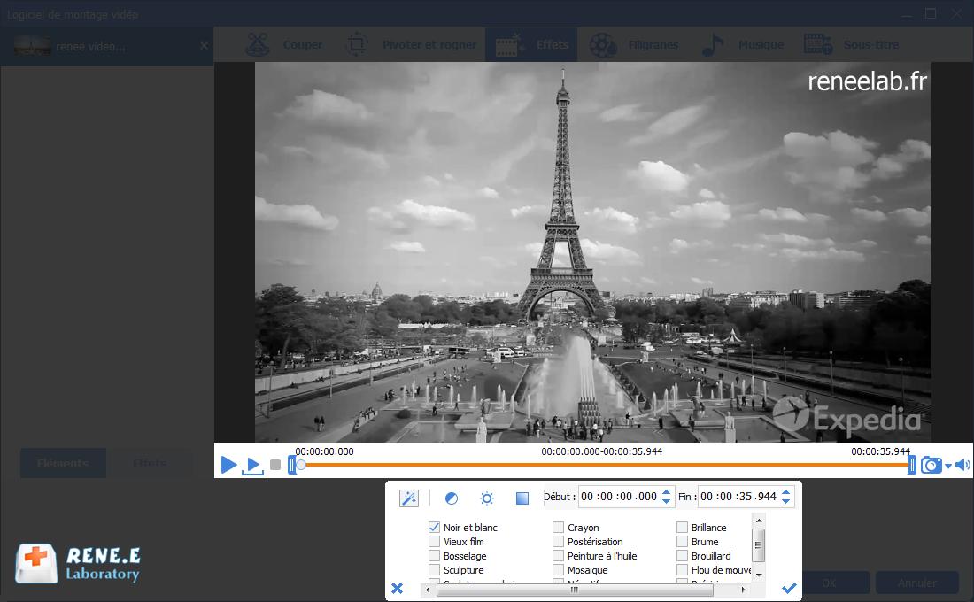mettre le filtre d'effet sur la vidéo