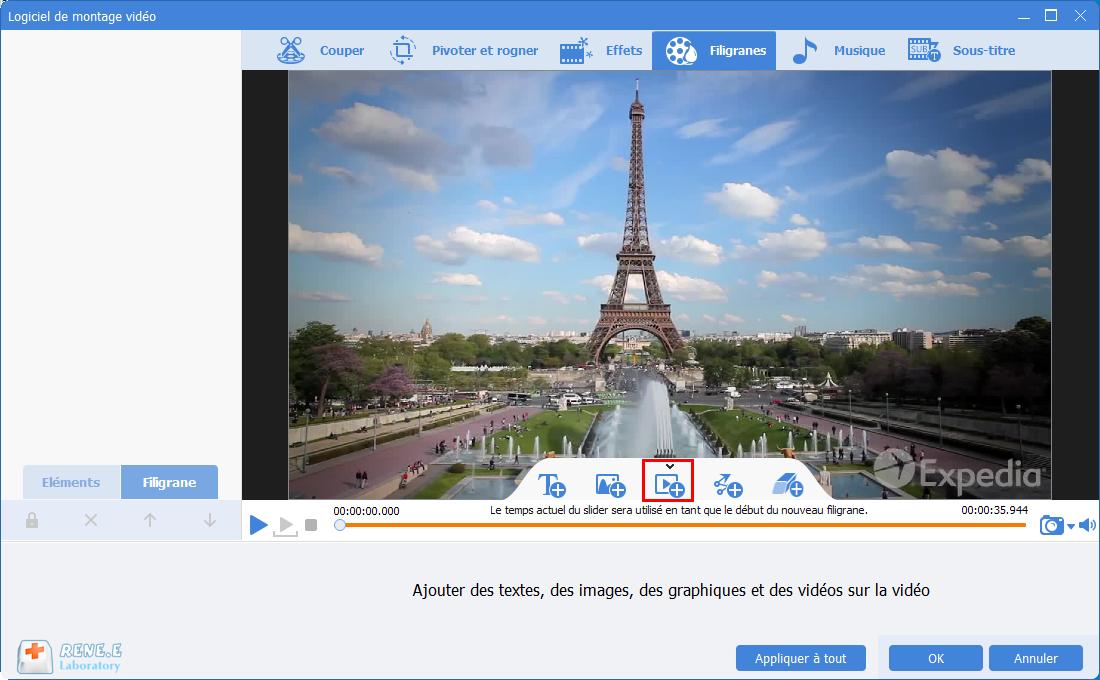 ajouter une vidéo en filigrane sur la vidéo