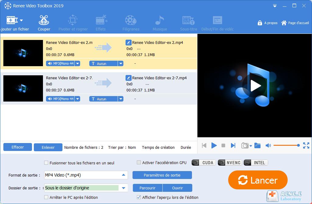Convertir fichier audio en video
