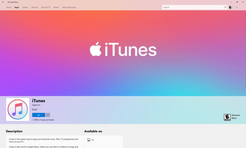 lecteur de multimédia iTunes