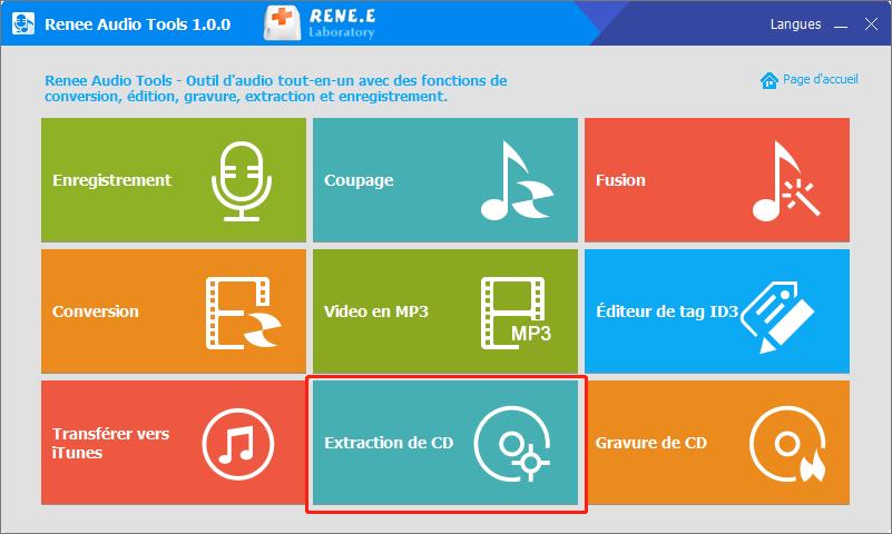 extraction de CD de Renee Audio Tools